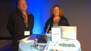 Ray and Liz from Simularity with Anomalometer demo
