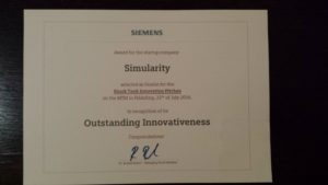 simularity award ai disruptive technology analytics