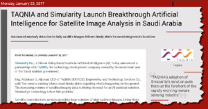 taqnia satellite anomaly detection saudi iot news