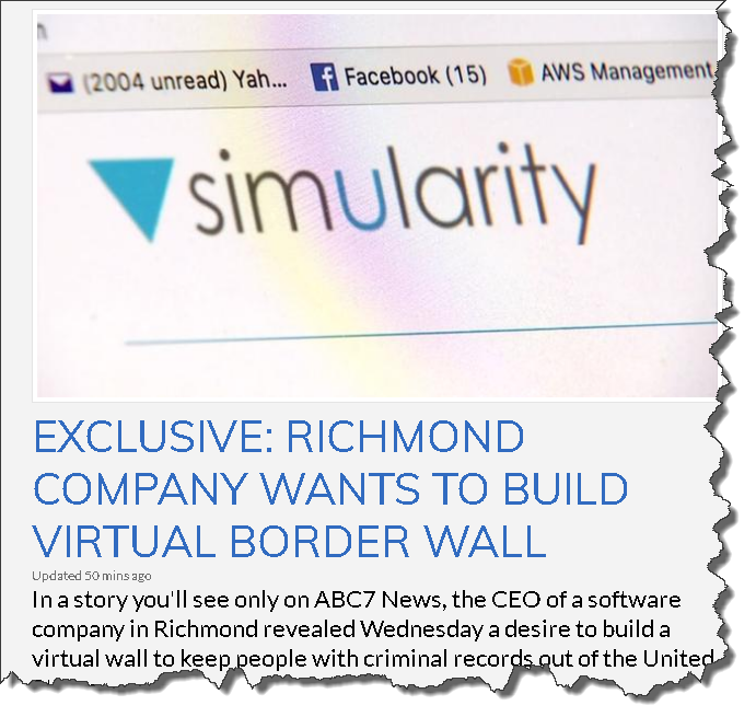 ai virtual wall story simularity